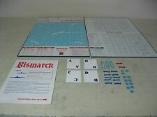 VINTAGE 1962 THE AVALON HILL COMPANY BISMARCK BOARD AND SOME PIECES   GAME