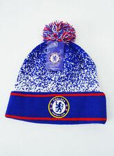 Chelsea FC POM BEANIE Soccer Sports Cap Knit Blue White New