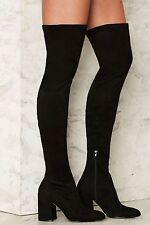 Nasty Gal Up and at 'Em Over-the-Knee Boots size 7 new in box
