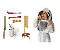 OZ ARMOUR BEEKEEPING 3 LAYER VENTILATED BEE SUIT STARTER KIT SMOKER BEE BRUSH