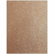 24x Glitter Cardstock Paper DIY Crafts Gift Box Wrapping, Rose Gold 11 x 8.5 in.