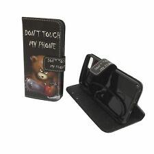 Schutz Hülle für Handy Apple iPhone 8 Bär Dont Touch Tasche Wallet Cover Case