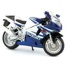 Suzuki GSX-R750 blue/white - Bburago 1:18 Diecast Model Motorcycle
