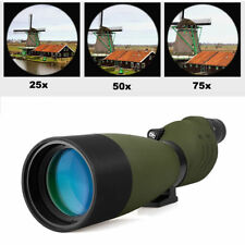 SV Waterproof 25-75x70mm Straight Spotting Scopes for Target Shooting Hunting