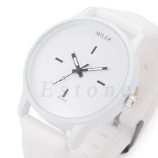 Unisex Men Women Casual Waterproof Silicone Sport Quartz Couples Wrist Watches