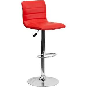 Flash Furniture Red Contemporary Barstool, Red - CH-92023-1-RED-GG