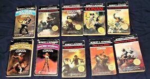Lot of 10 Robert E Howard vintage paperbacks (Berkley Editions)