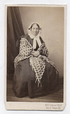 PHOTO CDV Carte de visite Edmond FRUIT Paris Femme Challe Vers 1870 Coiffe