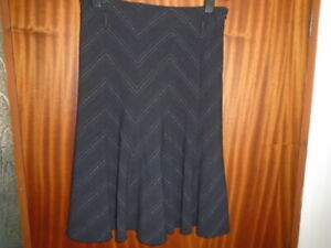 1 Black and white chevron stripe skirt, GEORGE, size 12, great for the office