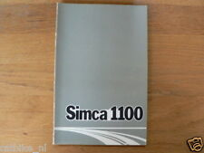 SIMCA 1100 19??   HANDLEIDING OWNERS MANUAL,INSTRUCTION BOOK