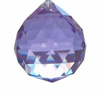 40mm Lilac Ball Chandelier Crystals Prism Suncatcher Pendant Purple