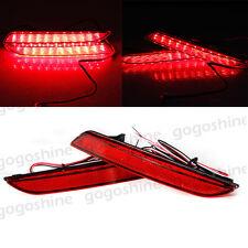 2pcs LED Rear Bumper Lamp Reflector Tail Brake Light for Honda Odyssey 2015 2016