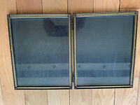 Vintage EMBOSSED Brass Double Picture Frame w Glass Intercraft Freestand 7.5x9.5