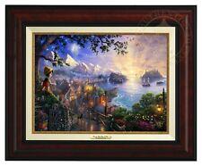 Thomas Kinkade Pinocchio Canvas Classic (Burl Frame) Disney