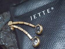 JETTE JOOP Swing - Exklusive OHRHÄNGER mit BERGKRISTALLEN | 750er Gold | + Etui