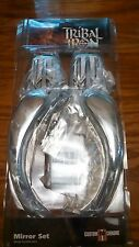 NEW CHROME TRIBAL IRON MIRROR SET fit ALL HARLEY 65-UP