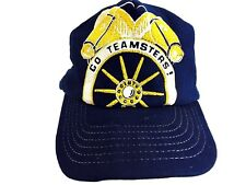 Teamsters Hat Union Cap 1980s Snap Back Hat Trucker Hat Go Teamsters Mesh