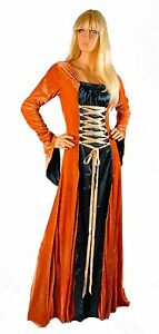 Renaissance Adult Maid Marian Medieval Dress Sizes S-XL NEW Satin Lady Wench