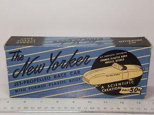 VINTAGE SCIENTIFIC MODEL THE NEW YORKER JET PROPPELD RACE W/FORMED PLASTI BODY