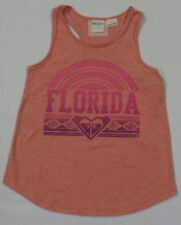 NEW ROXY YOUTH GIRL FLORIDA GRAPHIC TEE SLEEVELESS CORAL SHIRT SZ XS (7)