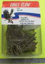 EAGLE CLAW 72 #4 100CT EXTRA LONG BRONZE HOOKS 6831