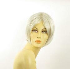 Perruque femme blanche cheveux lisses ref BLANDINE 60
