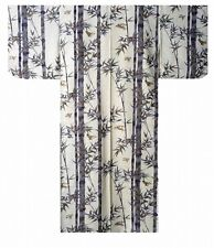 "DM-S00901-01-WH YUKATA with Obi M(58"") Made in JAPAN MEN's Kimono Japanese HAPPI"