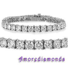 52.50 ct G VS2 natural round diamond classic 4 prong tennis bracelet platinum