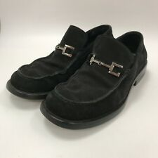Gucci Shoes Ladies UK 9 EU 42.5 Black Suede Slip On Casual Driving Flat 301323