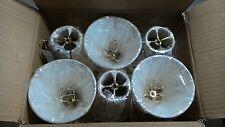 (6 Pack) Royal Designs Empire Chandelier Lamp Shade, Size 5 (CS-114EG-6)