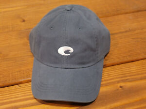 Costa Mini Logo Hat in Grey - One Size Fits All - Adjustable! - NEW FREE SHIP!