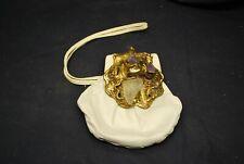 Vintage Carvalho'S Real Amethyst & White leather - 70's handbag. Made in Brazil