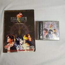 Vintage PlayStation 1 Final Fantasy VIII Official Strategy Guide with game