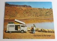 1971 VW Volkswagen Bus Westfalia Campmobile Brochure Catalog