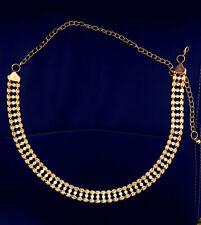 Women's Gold Crystal Diamond Waist Belt Fashion Chain Full Rhinestone Waistband