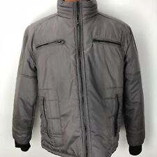 Seduka Mens Gray Jacket Insulated Winter Coat Size XXL Zip Front Puff