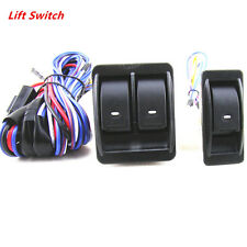 12V Car Power Fit 2 Doors Window Glass Lift Switch Harness Cable Sets Universal