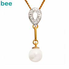 Pearl Freshwater Yellow Gold Fine Necklaces & Pendants