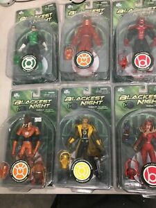 LOT Of 7 DC Direct Blackest Night - Series 1,,3, 7, 8  Red Lantern Action Figure