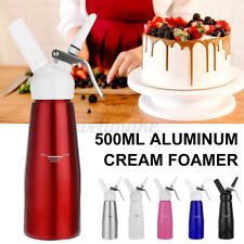 500ml Foam Whipped Cream Dispenser Attachments Included 3pcs Decorating Nozzles