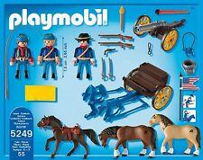 * PLAYMOBIL * 5249 * American Civil War - Horse-Drawn Carriage + Cannon * BNIB *