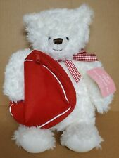 Hallmark 2003 From My Heart Valentines Day Bear Plush Zippered Heart Bag New!