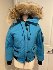 CANADA GOOSE WOMENS BLUE PUFFER BOMBER JACKET SIZE M