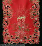 Holiday Christmas Poinsettia Candle Placemat Table Cloth Runner RED GOLD 6727