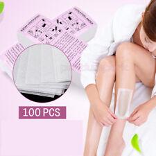 100pcs Disposable Hair Removal Depilatory Wax Strip Epilator Paper Waxing Tools
