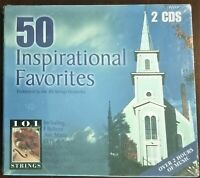 50 Inspirational Favorites - 101 Strings Orchestra 2 CD Religious Hymn Set - New