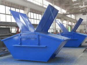 Absetzcontainer Absetzmulde Bauschuttcontainer mit Deckel 3 cbm