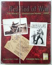 Red God Of War Soviet Operation Mars 1942 Board Game UNPUNCHED Avalance Press