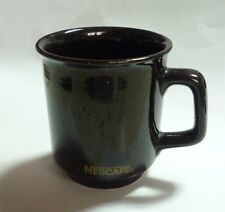 """NESCAFE COFFEE Vintage BROWN Mug Cup from MALAYSIA 3.5"""" Tall Nestle 1998"""