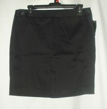 Attention Womens Skirt Solid Black Size 6